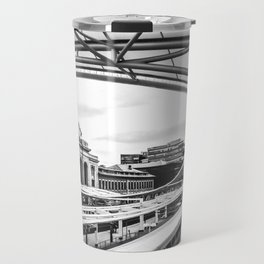 Union Station // Train Travel Downtown Denver Colorado Black and White City Photography Travel Mug