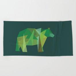 Grizzly Beach Towel