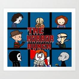 The Horror Bunch: Slashers Unite Art Print