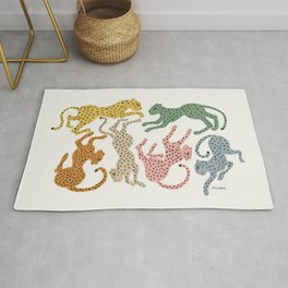 Rainbow Cheetah Rug