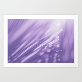 Ultra Violet Palm Tree Pattern  Trendy color of year 2018 Art Print