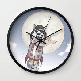The cool Husky Pilot Wall Clock
