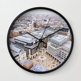 City View over London from St. Paul's Cathedral 2 Wall Clock