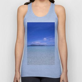 Clear blue ocean water in Similan Thailand Unisex Tank Top