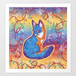 Magical Gray Fox Art Print