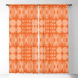 Orange And Peach Pattern Blackout Curtain