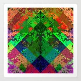 Beauty In Symmetry - Abstract, geometric, textured, symmetrical artwork Art Print