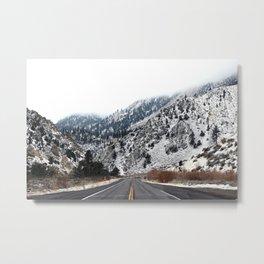 Snowy Road Metal Print