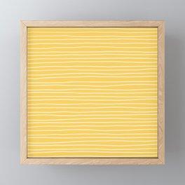 Sunshine Yellow Pinstripes Framed Mini Art Print