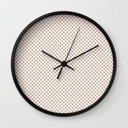 Maple Sugar Polka Dots Wall Clock
