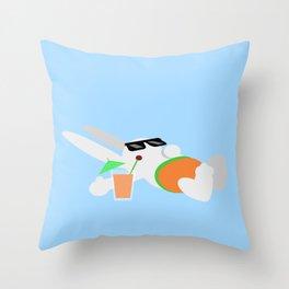 Sun Bun Beached Throw Pillow