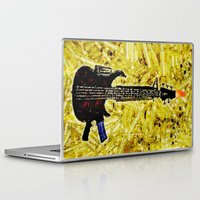 rock and roll Laptop & iPad Skins featuring ROCK AND ROLL - 017 by Lazy Bones Studios