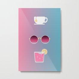 Tea, Shade, & Pink Lemonade (Pink x Blue) Metal Print