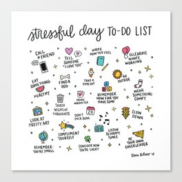 Stressful Day To-Do List Canvas Print