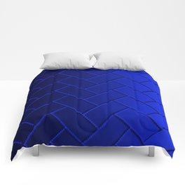 Herringbone Gradient Dark Blue Comforters