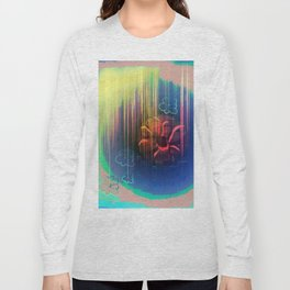 Floral Space Long Sleeve T-shirt