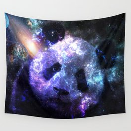 Panda Planet Colorful Galaxy Wall Tapestry