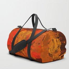 Mosaic Grunge in Orange Duffle Bag