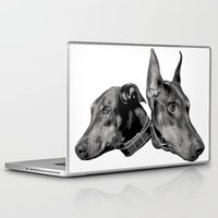 doberman Laptop & iPad Skins featuring Doberman by G Boutique