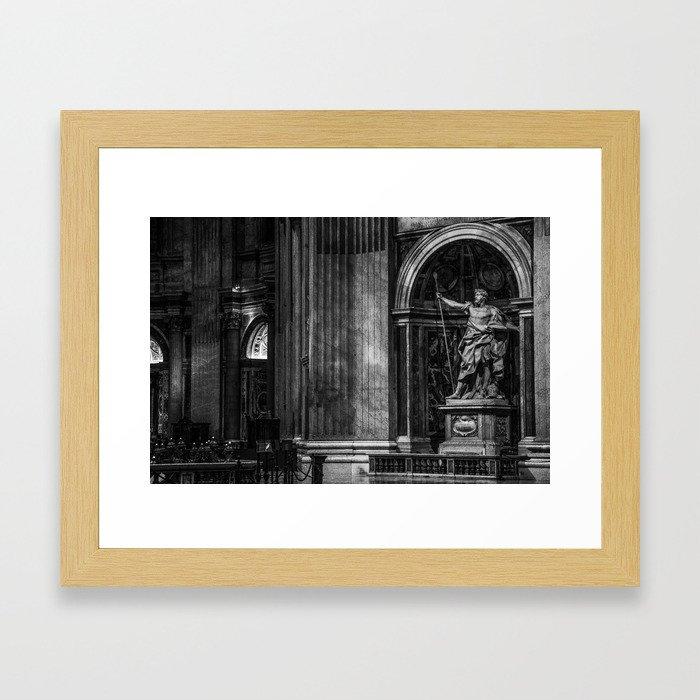 Inside The Vatican Framed Art Print