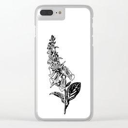 wild flower: digitalis purpurea Clear iPhone Case
