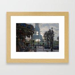 manège parisienne Framed Art Print