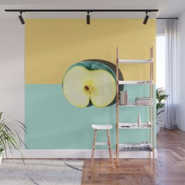 Tropical Fruit. Apple Half Slice Wall Mural
