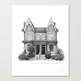 Victorian Bay & Gable, Cabbagetown - Architectural Styles of Toronto Houses Canvas Print