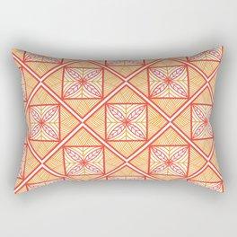 Orange UrbaNesian Siapo Rectangular Pillow