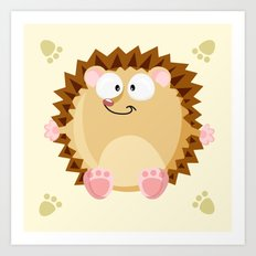 Hedgehog form the circle series Art Print