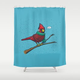 Annoyed IL Birds: The Cardinal Shower Curtain