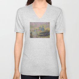 Grand Canal (Venice) - Paul Signac Unisex V-Neck