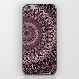 MARSALA MANDALA iPhone Skin