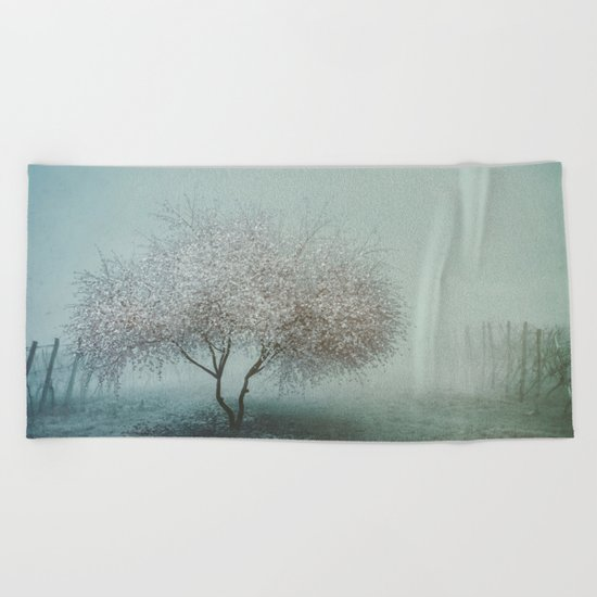 Blurred Hope Beach Towel