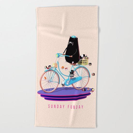 Sunday Funday Beach Towel