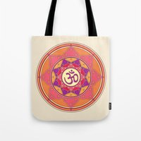 ohm Tote Bags featuring Ohm by TypicalArtGuy