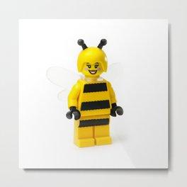 Lady Bumblebee Minifig Metal Print