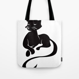 Silhouette Sits Tote Bag