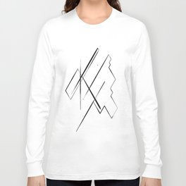 Black Lines Long Sleeve T-shirt