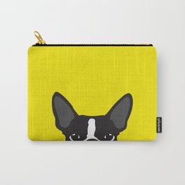 Boston Terrier Yellow Carry-All Pouch
