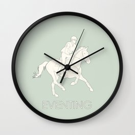 Eventing in green Wall Clock