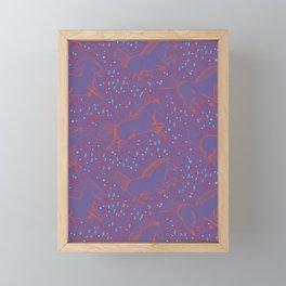Wild Horses by Friztin - Ultra Violet Framed Mini Art Print