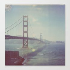 Golden Gate - Polaroid Canvas Print