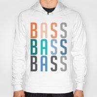 bass Hoodies featuring BASS BASS BASS by DropBass