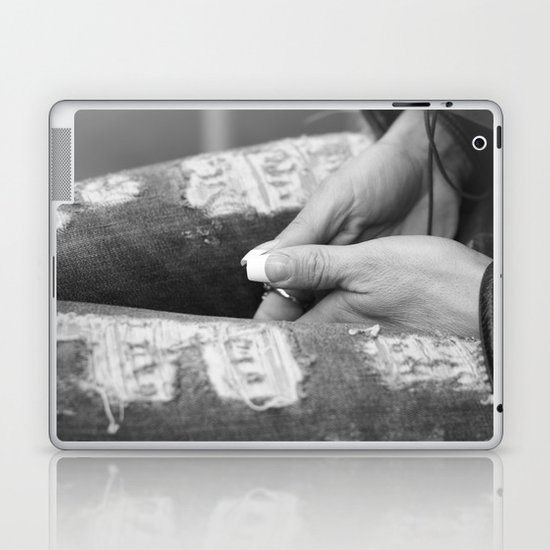 Hidden modesty Laptop & iPad Skin