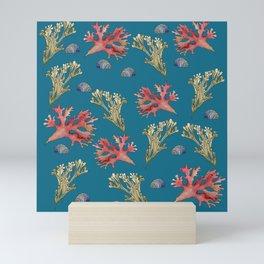 Seaweeds and Seashells Mini Art Print