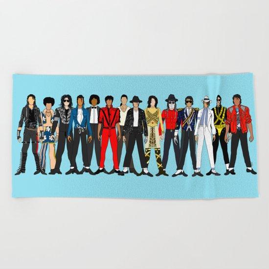 King MJ Pop Music Fashion LV Beach Towel