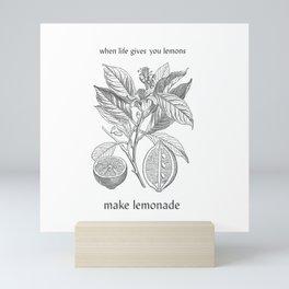 Lemon botanical drawing Mini Art Print