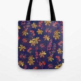 Blue Geraniums Tote Bag