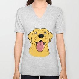Yellow Labrador Retriever Gift Yellow Lab Gift Print Unisex V-Neck
